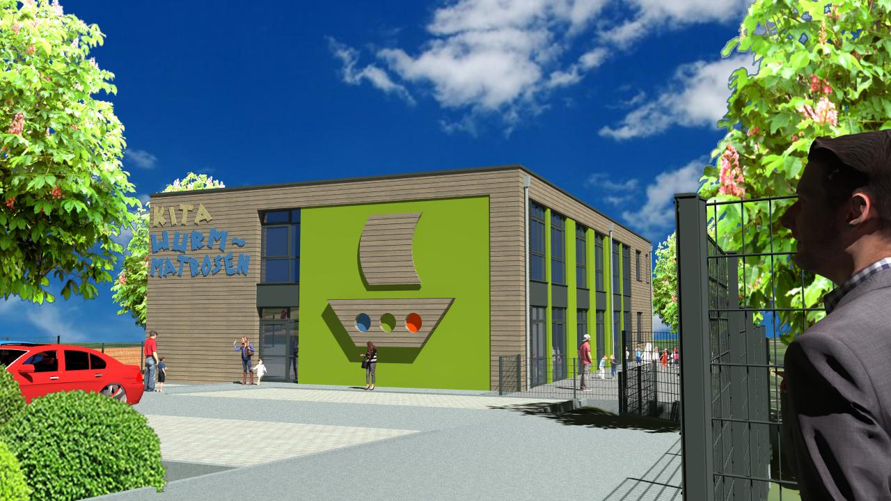Neubau einer städtischen Kindertagesstätte an der Wurm