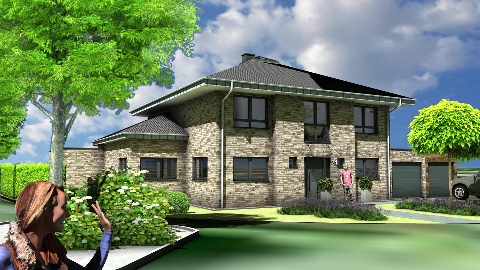 Neubau eines Einfamilienwohnhauses mit Doppelgarage
