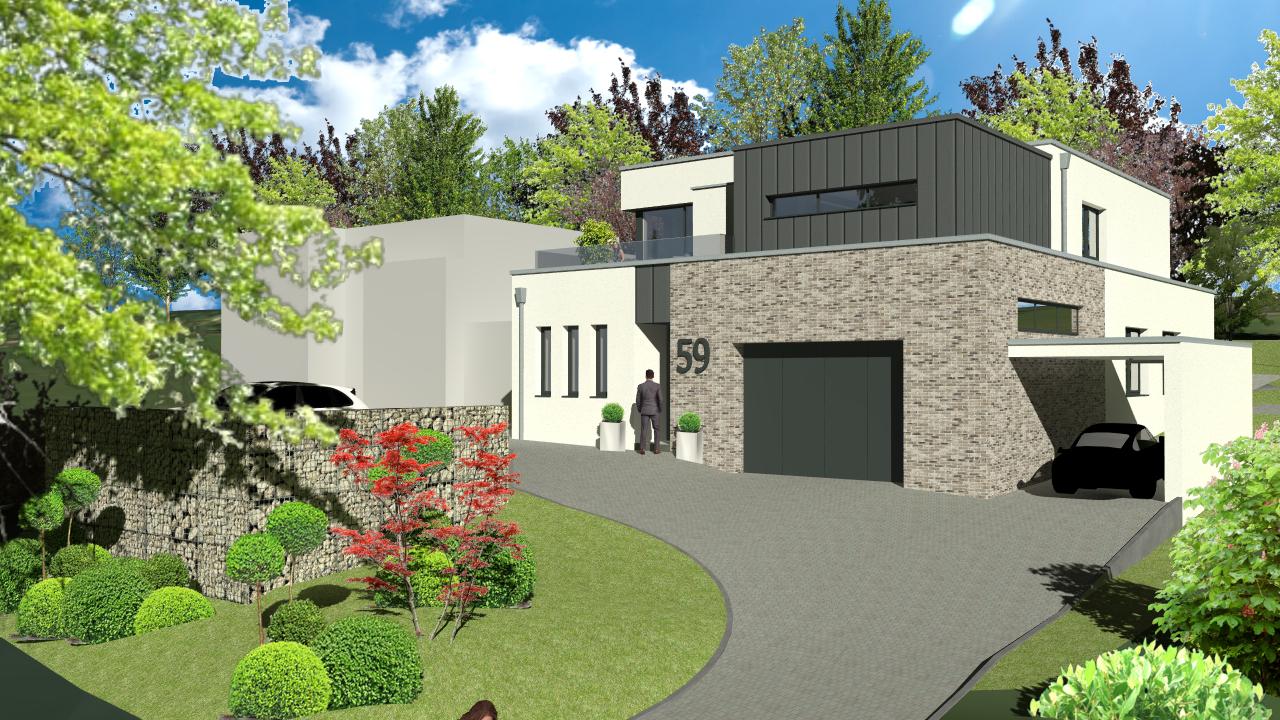 Neubau eines Zweifamilienwohnhauses mit Garage und Carport