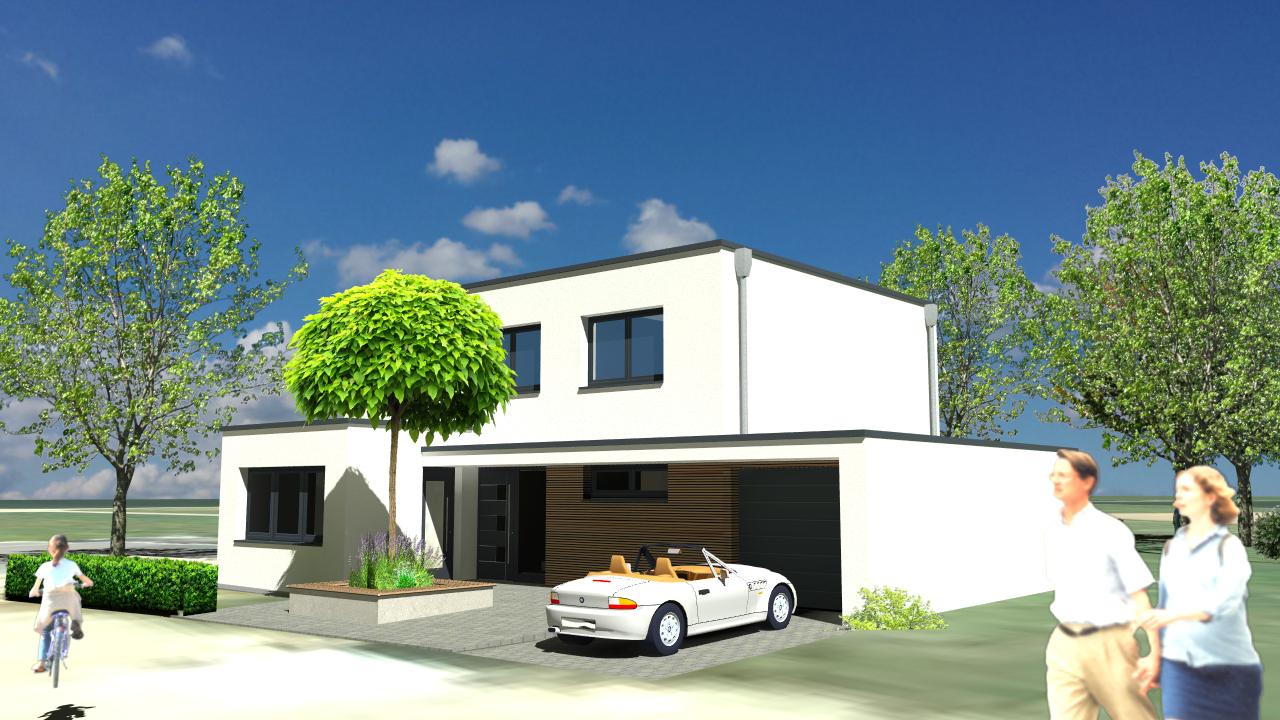 Neubau eines Einfamilienwohnhauses mit Garage und Friseursalon